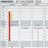 Franken DS1203A Datumstreifen für JK1203 (magnetisch) 191 x 695 mm, weiß