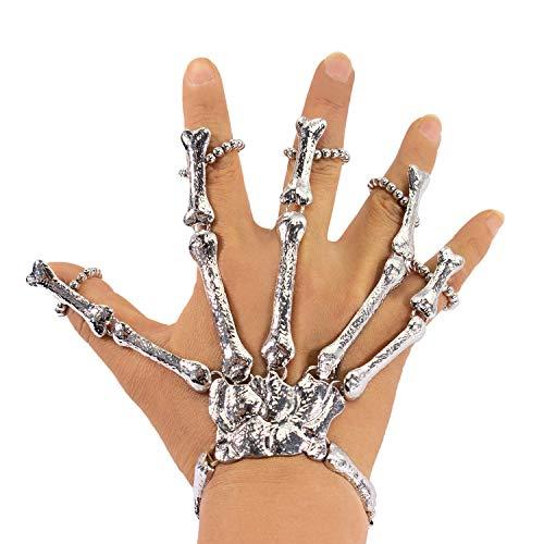 Oblique Unique® Skelett Hand Knochen für Halloween Fasching Karneval Party Verkleidung Kostüm Zubehör Accessoire (Skelett Hände Kostüm)