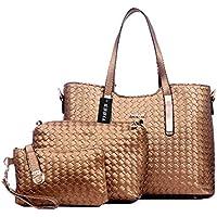 Tibes modo dell'unità di elaborazione della borsa del cuoio + Shoulder Bag + Purse 3pcs Bag