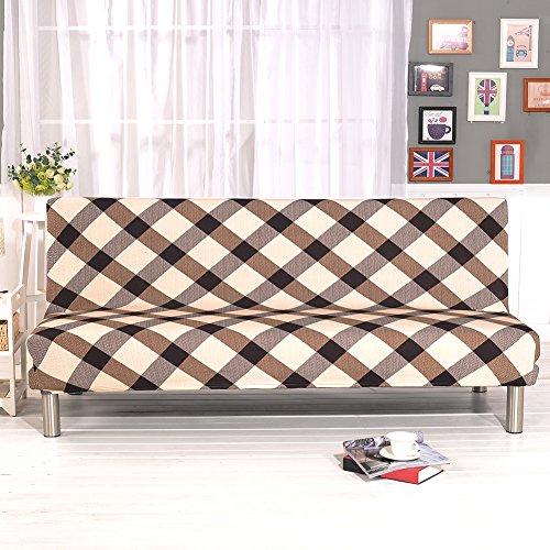 Copridivano,bloomma fodera per divano imbottita per divano in tessuto elasticizzato in poliestere spandex con rivestimento in tinta unita stampata per divani letto pieghevole senza braccioli