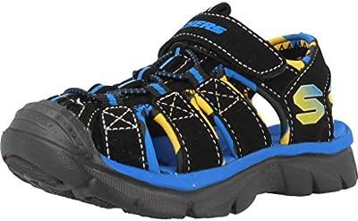 Sandalias y chanclas para niï¿œo, color Negro , marca SKECHERS, modelo Sandalias Y Chanclas Para Niï¿œo SKECHERS RELIX Negro