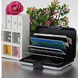 Alu wasserdichte Kreditkarten Visitenkarten Etui Case Tasche Box Hülle Kartenbox Aufbewahrungsbox Silber