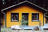 Farben-Budimex Industrie-Profi Wetterschutzfarbe, Dauerschutzfarbe, hellocker / seidenmatt / 2,5 L