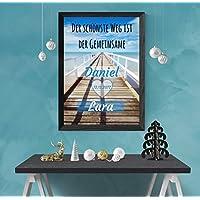 Hochwertiger Druck als Gastgeschenk zur Hochzeit | kreatives Hochzeitsgeschenk für das Brautpaar | personalisiertes Bild auf DinA4