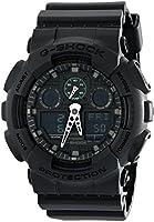 Casio Mens Quartz Watch, Analog-Digital Display and Plastic Strap GA100MB-1ACR