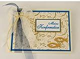 Gästebuch zur Konfirmation 'Fische' - blau Din A5 quer *HANDMADE*