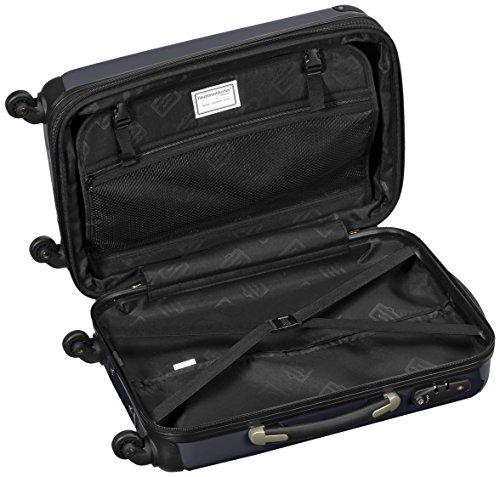 HAUPTSTADTKOFFER - Alex - Valise à Main Noir Brillant TSA 55 cm 42 litres
