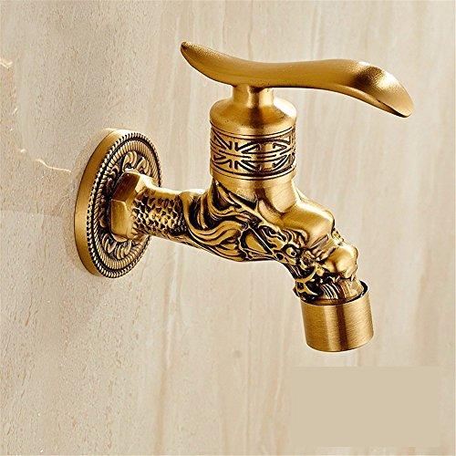 Wasserhähne im Bad Waschmaschine Wasserhahn Mop Pool Hahn Waschbecken Armatur Küchenarmatur Vintage Alle Bronze Outdoor Faucet, F