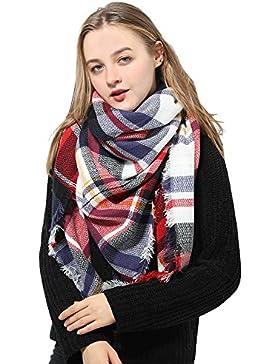 Natural Feelings Elegante Inverno Caldo Grande Coperta a Scacchi Plaid  Sciarpa Wrap Scialle a8cbcccf9c78