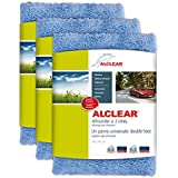 ALCLEAR 820203U_3 Allrounder à 2 Côtés Chiffon Microfibre, Bleu, 40x40 cm, Lot de 3