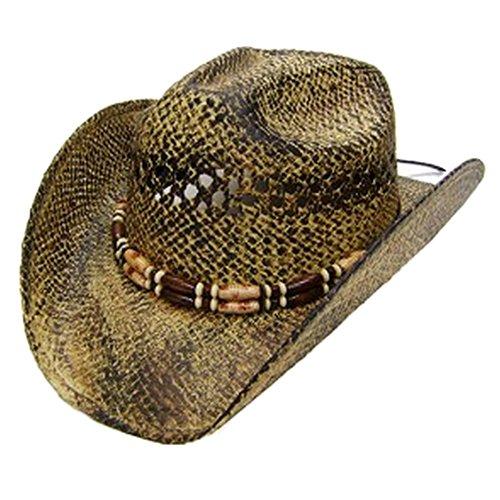 modestone-unisex-cool-straw-chapeaux-cowboy-light-yellow-black
