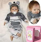 ZIYIUI Bambole Reborn Maschio 22 Pollici 55 Centimetri Bambole Reborn in Silicone Morbido Simulazione Reborn Baby Giocattoli Neonato Bambole Reborn (Apri Gli Occhi) Xmas Gifts