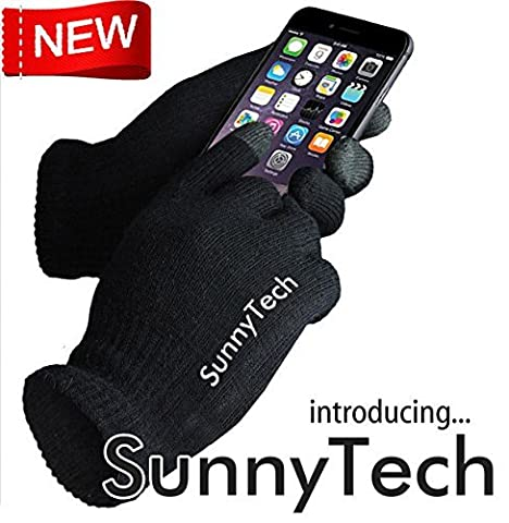 SunnytechOne Pair Unisex Touch Screen Knit Glove Hand Warm for Iphone Ipad Blackberry Samsung HTC and Other Smartphones PDA (One Size) by Sunnytech