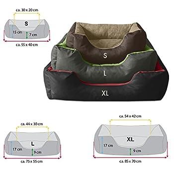 BedDog lit pour chien LUPI, noir/gris, XL env. 85x70 cm,Panier corbeille, coussin de chien