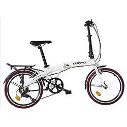 Ecosmo 20AF09W - Bicicleta de ciudad de aleación ligera plegable, 50,8 cm, 12kg