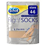 Scholl Flight Socks, 2 Sheer Pairs, Size 4-6