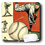 3drose LLC 20,3 x 20,3 x 0,6 cm Maus Pad, Blue Bolt Baseball comic Bücher (MP _ 38424 _ 1)