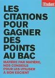 Telecharger Livres Les citations pour gagner des points au bac (PDF,EPUB,MOBI) gratuits en Francaise