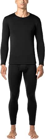 LAPASA Uomo Set Termico Invernale Ad Alta Densità Completo Termico T-Shirt Maniche Lunghe & Pantaloni Invernali Confezione Regalo Heavyweight M24