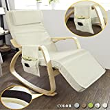 Reclining Lounge Rocking Chair with Side Bag