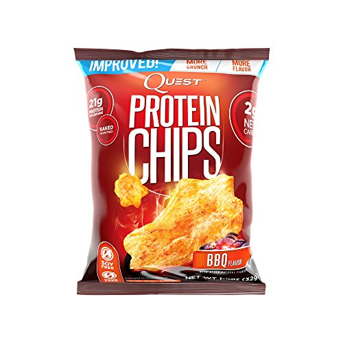 Quest Nutrition Protein Chips, BBQ, 21g Protein, Baked, 1.2oz Bag, 8 Count