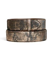 VaModa Ceinture en cuir, Newbury Black Copper, sans boucle