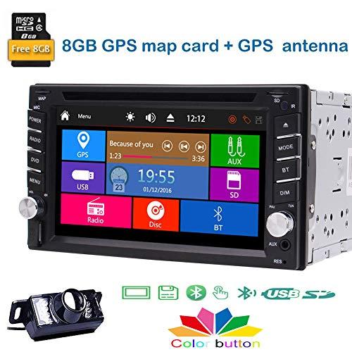 EINCAR 6,2 Zoll kapazitive Touchscreen mit hohen Auflösung Doppel-DIN-Autoradio mit Rückfahrkamera Bluetooth GPS-Navigations Unterstützung RDS Radio FM AM USB SD 1080P HD Video SWC Fern Contorl Car Audio Batterie Isolator
