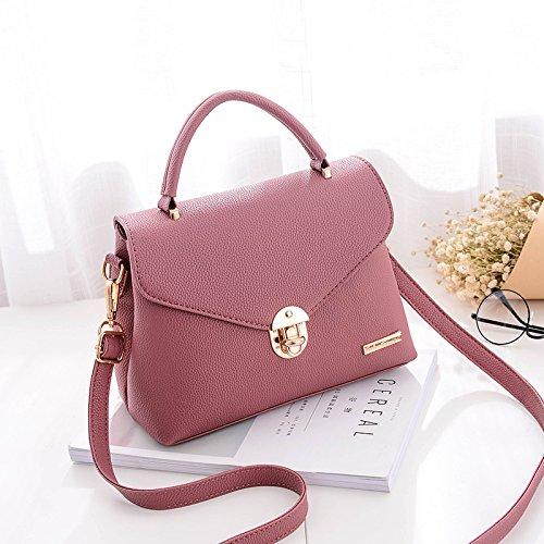 Pacchetto LiZhen femmina di autunno e inverno coreano nuovo elegante e versatile singola spalla borsa Messenger ragazze minimalista Ms. pacchetto, vino rosso In pelle rossa