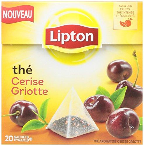 Lipton Thé Cerise Griotte 20 Sachets 34g - Lot de 6