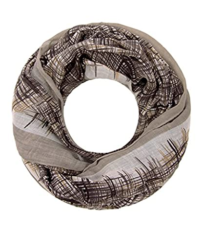 Majea super weicher Damen Loop Schal viele Farben Muster Schlauchschal Halstuch in aktuellen Trendfarben (beige 14)