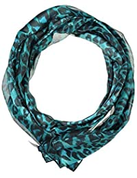 Ladies Satin Stripe Animal Scarf Leopard, Cheetah Print Scarves High Quality