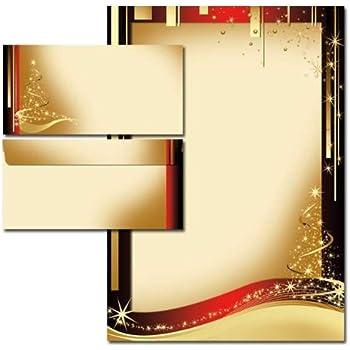 Motiv-Briefpapier-Set 40-tlg ANTIK ohne Fenster DL