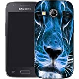 coque housse etui case cover pour samsung galaxy ace 4 g357 - blue lion
