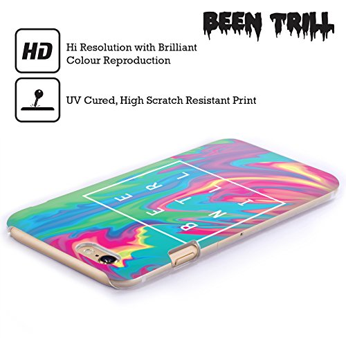 Official Been Trill Blue Tie Dye Hard Back Case for Apple iPhone X Turquoise