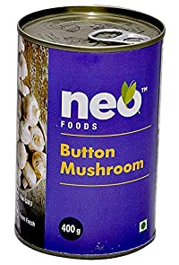 Neo Foods Button Mushroom Whole Tin, 400 Grams - Pack of 24