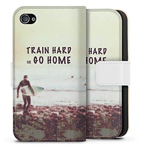 Apple iPhone X Silikon Hülle Case Schutzhülle Sport Training Fitness Sideflip Tasche weiß
