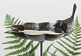 Nostalgia Abreuvoir Oiseaux avec terre piquet, objet d'antiquités bain de l'oiseau, fonte Marron rouille