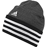 adidas Herren 3-Stripes Performance Mütze, Black/Dark Grey Heather/White, OSFM
