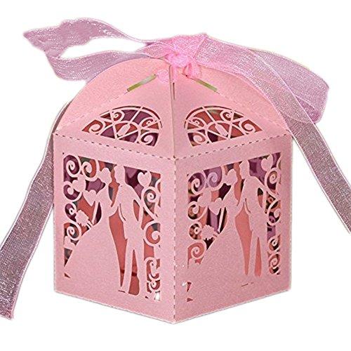 Chocolate Box Candy Pearl Papier Geschenke Box Halter Aufbewahrungsbox Fall für Hochzeit Ehe Geburtstag Dusche Party Dekore General rose (Baby Dusche Süßigkeiten Halter)