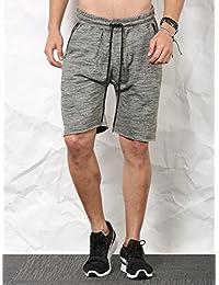 SKULT Men Olive Shorts - B076CMVJZ3