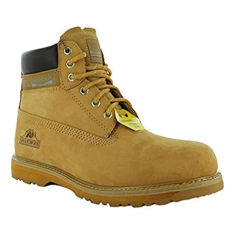 New Mens Groundwork Lace Up Steel Toe Safety Ankle Boots,