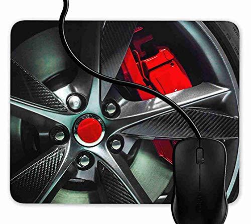 lloy Wheel Rot Schwarz Rutschfeste Gummi Basis Mouse pad, Gaming mauspad für Laptop, Computer 1F1111 ()
