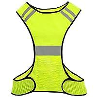 Biqing Hi Vis Vest, High Visibility Vest Hi Viz Waistcoat Safety Reflective Gear Jacket For Running Cycling Jogging Walking.