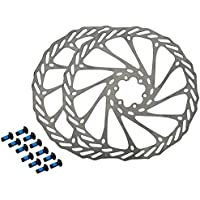 HemeraPhit - 2 rotores de bicicleta de montaña G3, discos de freno de acero inoxidable para bicicleta, con 12 tornillos gratuitos