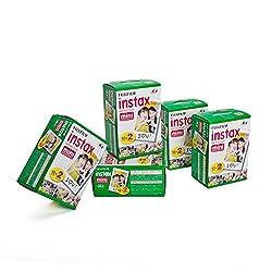 Fujifilm 16386016 Instax 5x20 Film Mini für Kamera weiß