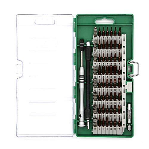 Bever 60 en1 Kit de Destornilladores de Precisión Herramientas Profesional para Todo Tipo Tornillos, Juego de Destornilladores para iPhone Smartphones Tablets Ordenadores Portátiles Cámara Reloj etc