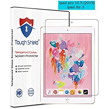 TOUGH SHIELD® 0.3 mm 9H Flexible Gorilla Guard Tempered Glass Screen Protector Shield for Apple iPad Pro 10.5 (2019),Apple ipad Air 3 (Pack of 1)