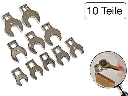 10piezas cabezales llave inglesa 10 mm 19 mm acero