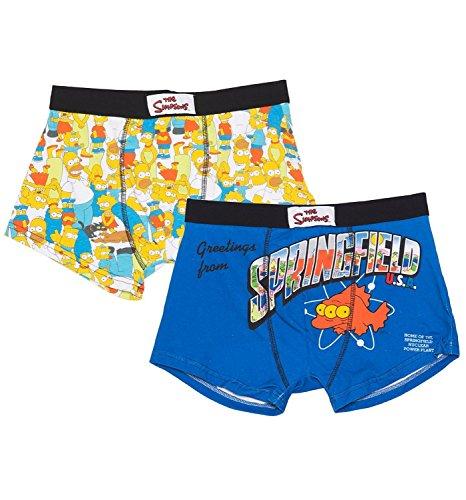 Da uomo Simpson Confezione da 2boxer in confezione regalo Multicoloured