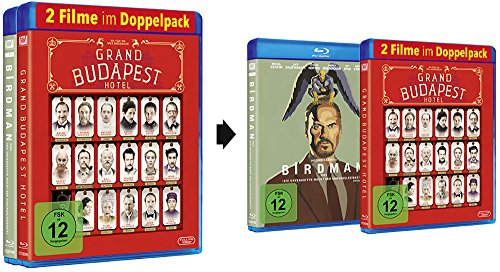 Blu-ray Doppelpack: Birdman / The Grand Budapest Hotel [Blu-ray]